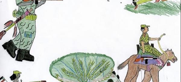Les dessins des enfants de la guerre comme pièces à conviction