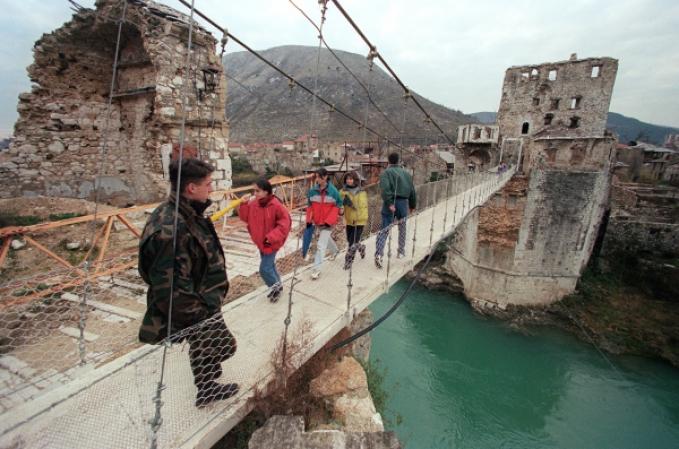 Was the destruction of Old Mostar Bridge a war crime?