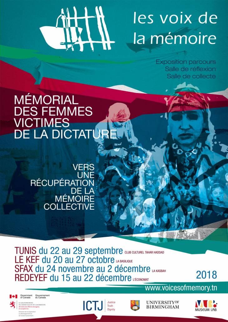 Affiche de l'exposition Les Voix de la Mémoire