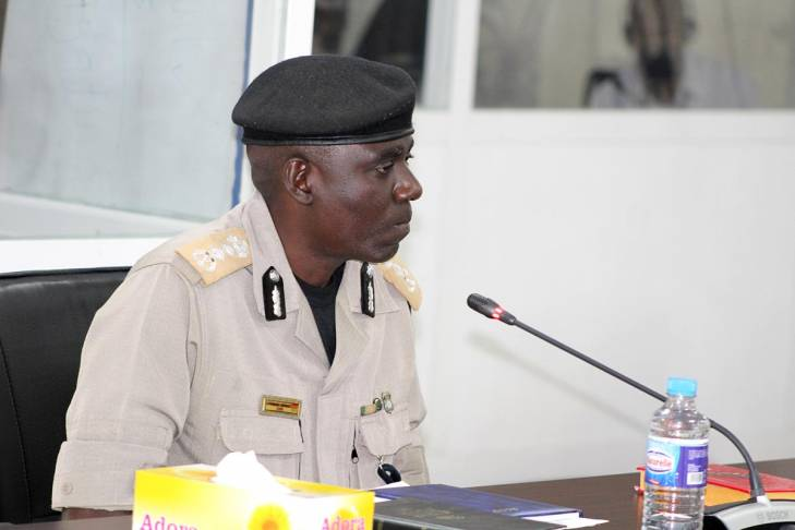 Ansumana Manneh testifies before the Truth commission (TRRC) in Gambia