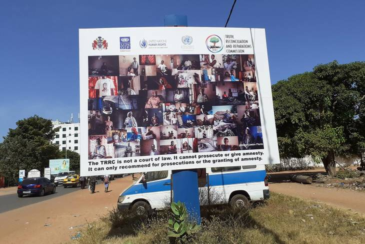 Billboard for the TRRC in The Gambia