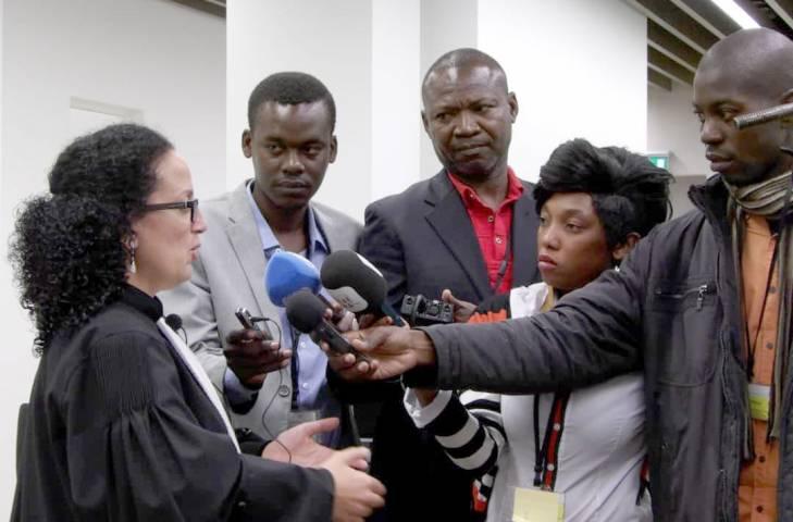 Inès Ngopot, envoyée spéciale de Radio Ndeke Luka (Centrafrique) à la Cour pénale internationale