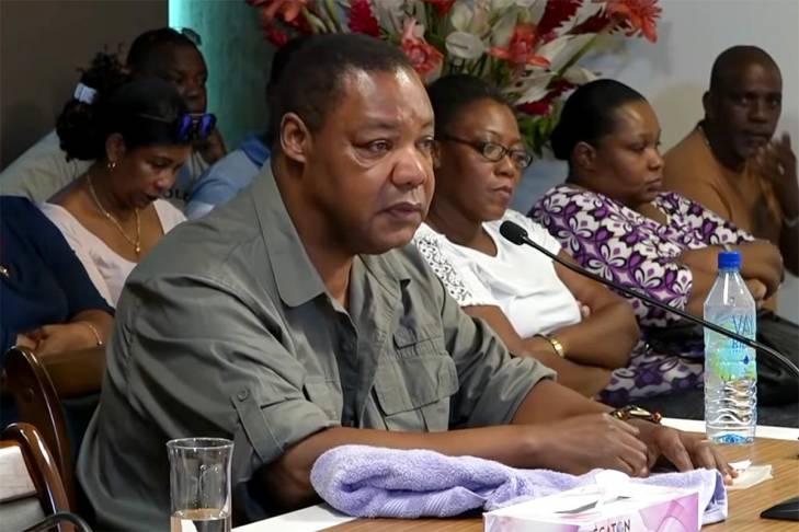 Bryan Charles Victor auditionné devant la TRNUC aux Seychelles