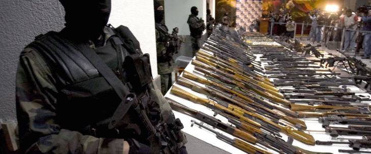 Saisie d'armes appartenant à des gangs mexicains