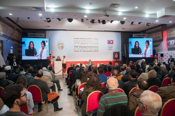 Conférence de clôture de l'Instance Vérité et Dignité (IVD) à Tunis, el 15 décebre 2018