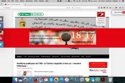 Première auditions publiques, en Tunisie de l'Instance Vérité et Dignité