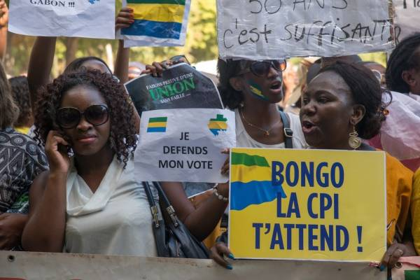 Gabon's election rivals continue battle before the ICC