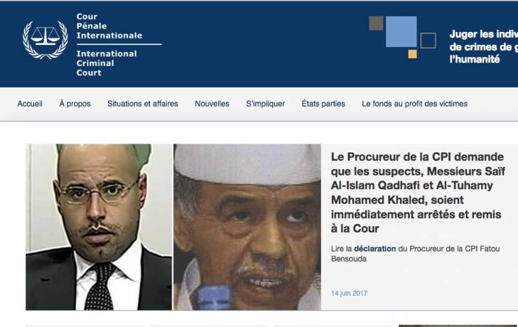 La CPI demande l'arrestation immédiate du fils de Kadhafi