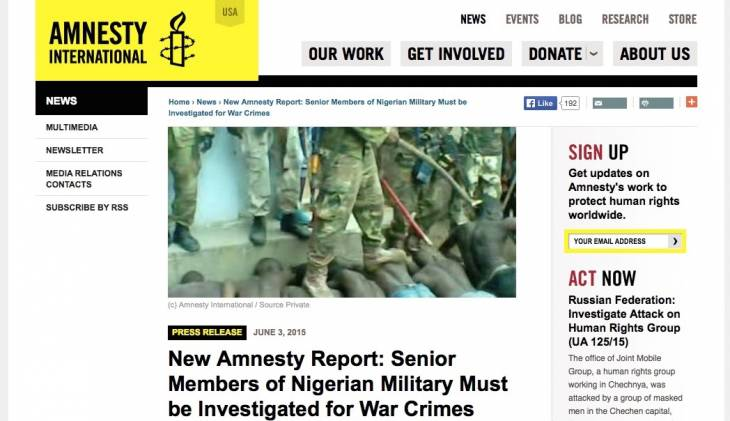 Nigeria : AI accuse l'armée