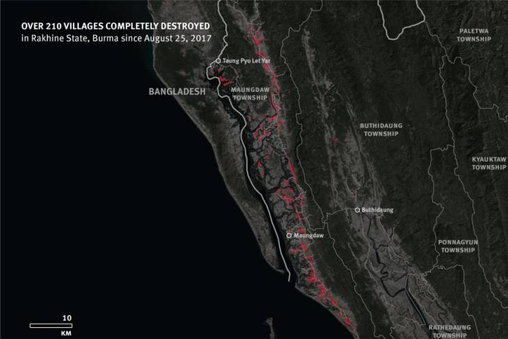 Myanmar: Satellite Imagery Shows Mass Destruction