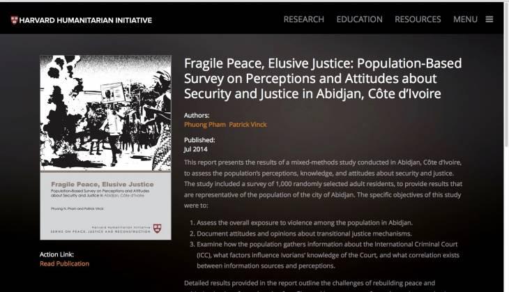 Côte d'Ivoire : le procès de Gbagbo ne changera pas la méfiance et les divisions, selon une étude de l'Harvard Humanitarian Initiative