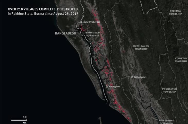 Myanmar: Satellite Imagery Shows Mass Destruction