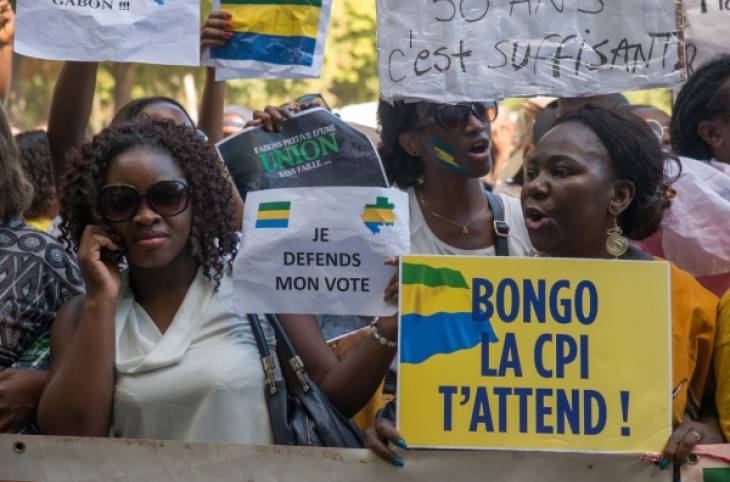 Gabon's election rivals continue battle before the ICC