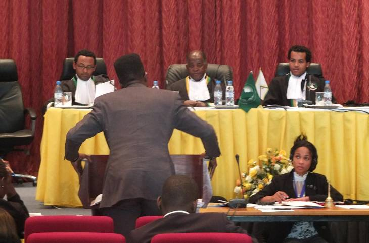 The shrinking African court